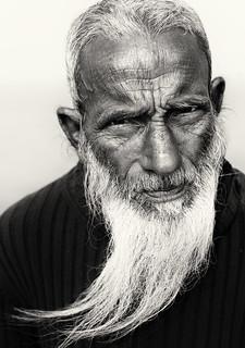 Bangladesh, old man near Bogra