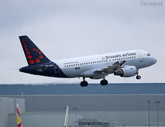 OO-SSD landing without flaps (@Eurospot) Tags: oossd airbus a319 toulouse blagnac brusselsairlines
