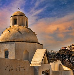 Church in Santorini (tsantakis) Tags: fineartphotography fineart visitgreece traveler besttravel travelgreece travel thira fira oia cycladesislands cyclades santoriniisland santorini orthodox greekisland greekchurch church