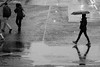 A rainy Winters Day with Norman 2017 -2 (Philip Gillespie) Tags: edinburgh scotland 2017 winter november canon 5dsr people kids feet umbrellas cars rain wet street fun funfair fair christmas mono monochrome black white rides puddles walking cold buildings architecture station travel girl boy man woman red green yellow blue crossing walk way pavement historic out outdoors outside photo photography friends water blur