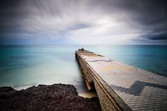 Dock and seaweed (georgeeleftheriadis@ymail.com) Tags: seascapes longexposure landscape nikon lee leebigstopper seafront dock concrete greece halkidiki d800e sky