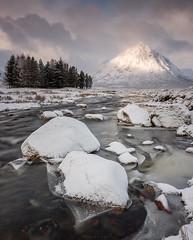 Sugar Lump Mountain (Sarah_Brooks) Tags: scotland highlands scottish landscape buachailleetivemor riveretive glencoe rannochmoor snow winter ice mountain