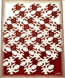 Regular Division of the Plane V (1957) - Maurits Cornelis Escher (1898-1972)
