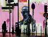 defense d'afficher (gregjack!) Tags: france paris marais art mural graffiti signs roadsigns street streetphotography silhouette pink sony