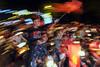 """Stormy night"" - (001) (-clicking-) Tags: streetphotography streetlife u23vietnam happy celebarate slowshutter life happiness saigon vietnam fans footballfans"