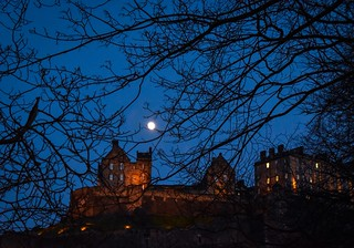 Moonlight over the castle