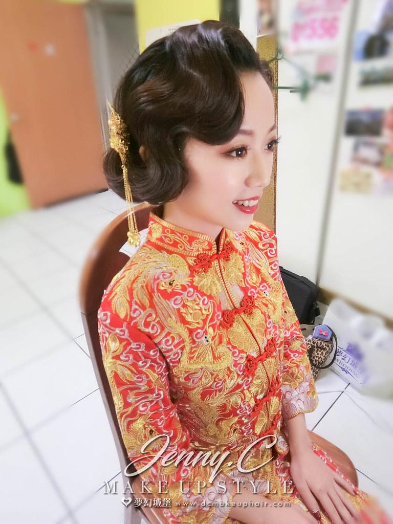 【新秘蓁妮】bride郁馨 訂婚造型 / 彰化自宅
