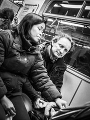Unconditional love (Henka69) Tags: streetphotography parents candid monochrome publictransportation metro