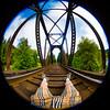 Self Portrait (Thomas Hawk) Tags: america glendale oregon southernoregon thomashawk usa unitedstates unitedstatesofamerica bridge selfportrait trainbridge traintracks fav10 fav25