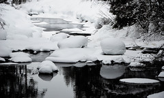 Bathing the Viking way (evakongshavn) Tags: snow winter winterwald winterlandscape wonderlandscape wonderfulworld ice cold crisp new white light water river icebathing reflections waterscape reflection virginsnow untouched 7dwf bnwphoto bnw blancoynegro blacknwhite blackandwhite blackwhite biancoenero