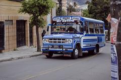 Still going (claudiorojas!) Tags: blue bus old oldschool streetphotography street sopocachi lapaz bolivia nikon