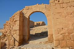 The Byzantine gate, Masada (JohntheFinn) Tags: masada israel zealot roman archaeology deadsea kuollutmeri middleeast history historia herod palace lähiitä landscape maisema outdoor hiking patikointi aavikko autiomaa erämaa desert wilderness judea