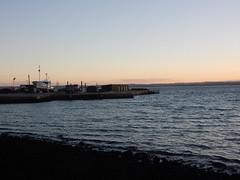 Dusk on the Bay (mikecogh) Tags: stanley gentle dusk harbour harbor pier shore hills sea