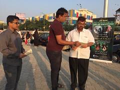 4 MFI Mumbai team at Haji Ali Dargah, Mumbai, India (Kalki Avatar Foundation) Tags: mumbai haji love peace divinelove divinesigns divine spirituality leafleting promotion alra tv kalkiavatarfoundation kalkiavatar
