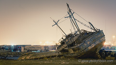 Abandoned Ship's Diary (Photonistan) Tags: ship abandoned photonistan photography nikon d7100 nightphotography longexposure emotion fishing vessel sea redsea bank story happiness livelihood explore travel diary fish beach water art