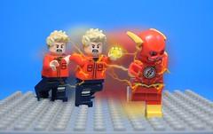 Quick Costume Change (Metarix (MrKjito)) Tags: lego super hero minifig dc comics comic flash barry allen suit ring speedforce speed speedster costume change