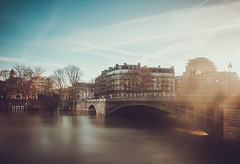 Pont de Sully (dufour_l) Tags: 2018 23mm candid canon couleurs crue eau eos5dmarkiii europe everybodystreet flare france hiver inondation laseine lavieencouleur landscape longexposure matin morning objectifgrandangle paris paysage pontdesully poselongue regardsparisiens soleil streetphotography winter