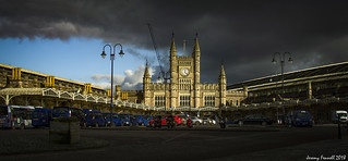 Stormy skies over Temple Meads
