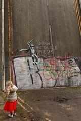 Wincolmlee Banksy Child photographer (oki leigh) Tags: banksy wincolmlee hull disused bridge draw raised