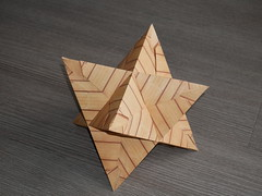 Stellated octahedron with tetrahedral tips (ISO_rigami) Tags: modular origami 3d a4 stellated polyhedron octahedron equilateral tetrahedral eckhardhennig