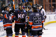 "Kansas City Mavericks vs. Indy Fuel, February 17, 2018, Silverstein Eye Centers Arena, Independence, Missouri.  Photo: © John Howe / Howe Creative Photography, all rights reserved 2018 • <a style=""font-size:0.8em;"" href=""http://www.flickr.com/photos/134016632@N02/38577199580/"" target=""_blank"">View on Flickr</a>"