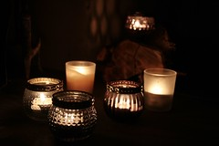 Evening Flickr of light (Madrose27) Tags: relaxing calm shapes fire flame shadows shimmer westcork tealight candle flickr light bokeh evening night