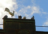 Golden Cockerel and Friends:  10/365 (amandabhslater) Tags: cockerel gold church tower weathervane sky bedworth birds 2018photographicdiary