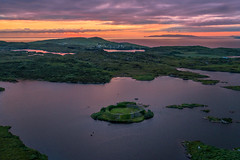 """Ring Fort Island of Lough Doon"" (Gareth Wray - 13 Million Views, Thank You) Tags: dji phantom 4 pro p4p four drone aerial quadcopter grianan portnoo ardara rosbeg doon lough island lake bawan o'boyle aileach ancient irish kings hill lookout fort ring ringed county donegal ireland summer landmark stone monument tourist tourists site famous visit scenic countryside druid celtic gareth wray photography nikon sun sky historic heather bog heath national gaelic photographer vacation holiday europe kingdom outdoor architecture landscape wild atlantic way sunset seaside shore coast sea"