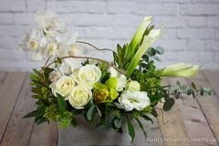 IMG_9133-4 (Garden Party Flowers) Tags: structuralwhiteandgreenarrangement calla cymbidium florist flowers vancouver whiteandgreenarrangement