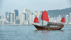 Duk Ling Ride, Traditional wooden sailboat sailing in victoria harbor,Hong Kong (Patrick Foto ;)) Tags: architecture asia asian boat building china chinese city cityscape classic cloudy coast concept copy cruise destination duklingride famous ferry flag harbor highrise historic hong kong landscape mast port red rise sail sailboat sea ship sightseeing skyscraper space tourism tourist town traditional transportation travel trip vacation vessel victoria water wooden hongkong kowloon hk