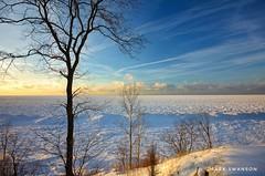 Frozen (mswan777) Tags: mound water horizon 1020mm sigma d5100 nikon coast michigan stevensville lakemichigan seascape sky cloud tree winter cold ice snow bluff shore