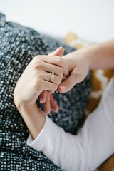 ... (.insideout) Tags: lovers rings portrait hands lovestory home cozy fineart fineartphotography love couple