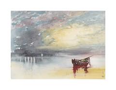 Rivage (Yvan LEMEUR) Tags: aquarelle watercolour acuarela rivage barque ciel peinture plage sable paysage landscape