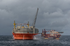Goliat water pumps (SPMac) Tags: arctic circle barents sea norway lights borealis eni norge goliat fpso 71227 floating production storage oil gas floatel endurance rig spray water