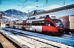 KDSC01399 (Hans-Peter Kurz) Tags: railway railroad reisen railscape eisenbahn zug train transport austria österreich outdoor bahnhof lienz tirol osttirol pustertal pustertalbahn drautalbahn kbs223 öbb bombardier talent br4024 winter snow schnee mountains berge berg