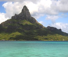 7643ex2 the waters and hills of Bora Bora (jjjj56cp) Tags: rocky craggy volcanic ocean pacificocean lagoon borabora soouthpacific frenchpolynesianislands frenchpolynesia lush greenery blue green tropical clearwaters peaceful calm p900 jennypansing otemanu anau