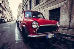 Classic red mini cooper (A.Dissing) Tags: old red mini cooper car rome rom italy auto contrast close color colour city a7ii anders a7 adventure art awesome a7m2 artistic angle dissing