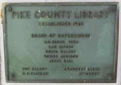 Pike County Library Plaque (McComb, Mississippi) (courthouselover) Tags: mississippi ms postoffices pikecounty mccomb libraries northamerica unitedstates us