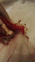 Red Sari for Zoé (Leegloo) Tags: sari pukifee pkf fairyland fl tiny doll bjd dolls ball jointed tan mio red indian oriental