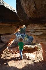 Everett On The Cave Spring Trail (Joe Shlabotnik) Tags: nationalpark utah hiking 2017 justeverett canyonlands everett november2017 canyonlandsnationalpark afsdxvrzoomnikkor18105mmf3556ged