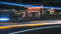 Yasaka Shrine Lighttrails (Patrick Vierthaler) Tags: yasaka shrine gio gion kyoto japan higashiyama light trails urban landscape lighttrails night 八坂神社 祇園 京都 日本 東山 ライトトレイル ライト トレイル 夜景 神社 風景 八坂