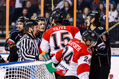 "Kansas City Mavericks vs. Cincinnati Cyclones, February 3, 2018, Silverstein Eye Centers Arena, Independence, Missouri.  Photo: © John Howe / Howe Creative Photography, all rights reserved 2018. • <a style=""font-size:0.8em;"" href=""http://www.flickr.com/photos/134016632@N02/39407448044/"" target=""_blank"">View on Flickr</a>"