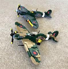 Supremarine Spitfires (Lego Admiral) Tags: ww2 wwii british battleofbritain supermarine spitfire lego legoadmiral plane fighter fighters warplane