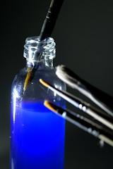 In a bottle - Macro Mondays (Jean-Marc Vacher) Tags: inabottle macromondays paintbrush