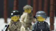 A Soldier's conversation (Force Movies Productions) Tags: war weapons wwii world wars wehrmacht lego helmet helmets gear second legophotograghy rifles rifle toy toys trooper troops troop troopers youtube ii officer soldier conflict pose cool movie soldiers moc photograpgh photo picture photograph animation army scene stopmotion film firearms frame guns gun legophotography custom vest bricks brickarms brickfilm brickizimo brick nation minfig minifig military minifigure minifigs militia nazi minifigco us german germany stalhhelm winter macro photography photoshop
