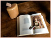 Al lume di candela - By candlelight (Domenico T) Tags: composition candle magnifyingglass books
