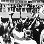 Students take to the bricks to protest the Vietnam War.