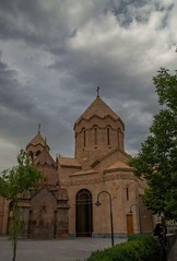 Holy Mother of God Kathoghike church Yerevan, Armenia (Gor .) Tags: rain rainy clouds cloud cloudy rainyday cloudyday church architecture art armenian armeniangenocide ararat armenia armenians yerevan abovyanstreet centre center religion christian christianity stkathoghike kathoghike kathoghikechurch trees tree travel grass green