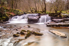 Brecon beacons river (gopper) Tags: d600 nikon 35mm breconbeacons brecon beacons waterfall river slomo longexposure ngc waterfalls wales welsh cymru merthyr neuadd afon fall rock rocks small winter february water creek stream forest cymraeg powys power january 2018 cloudy bare moss slippy flickr fflickr deadwood