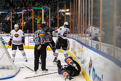 "Kansas City Mavericks vs. Indy Fuel, February 17, 2018, Silverstein Eye Centers Arena, Independence, Missouri.  Photo: © John Howe / Howe Creative Photography, all rights reserved 2018 • <a style=""font-size:0.8em;"" href=""http://www.flickr.com/photos/134016632@N02/39676654664/"" target=""_blank"">View on Flickr</a>"